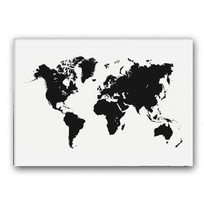 Carte mondial <br> Blanc et noir simple