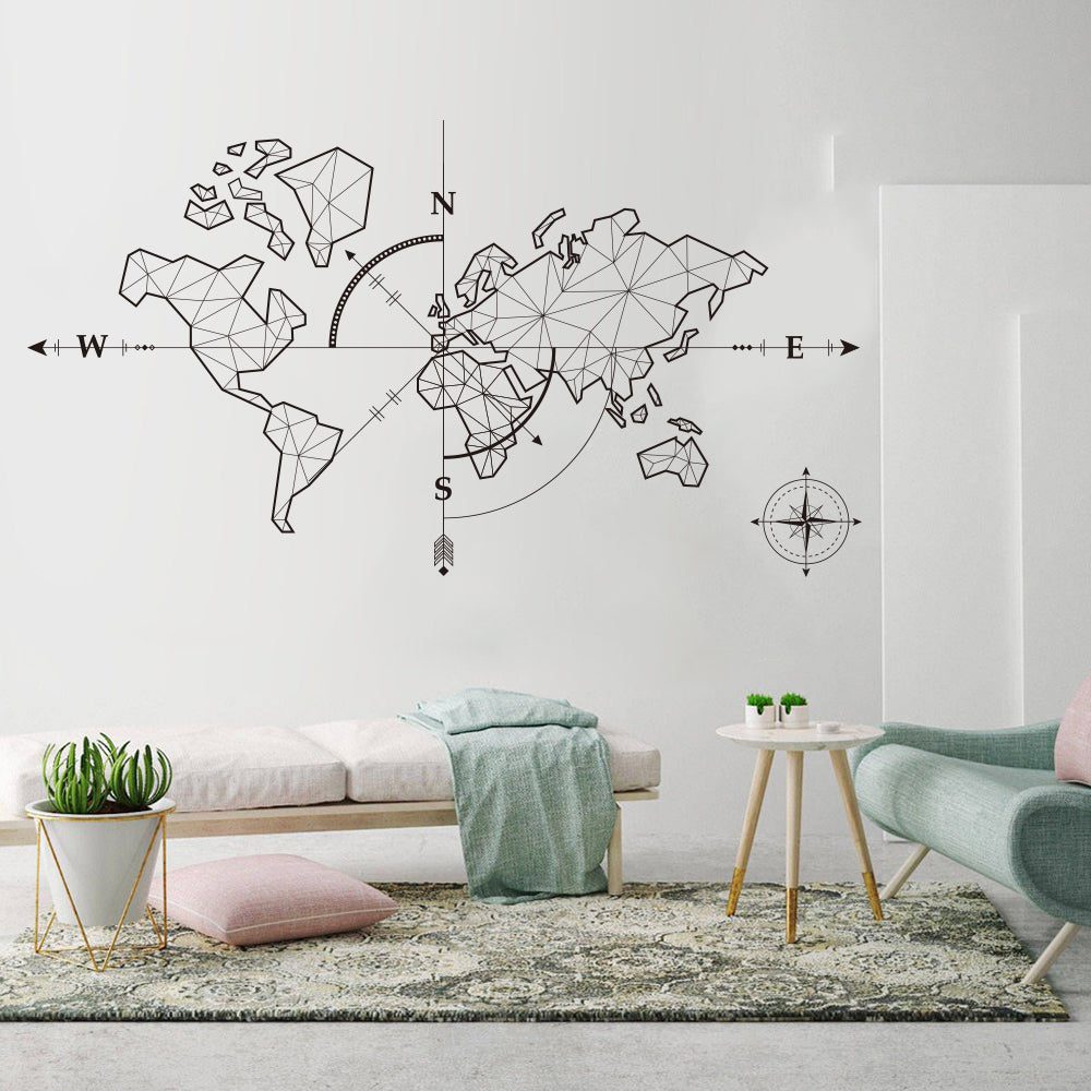 Stickers carte mondiale <br> Décoration murale