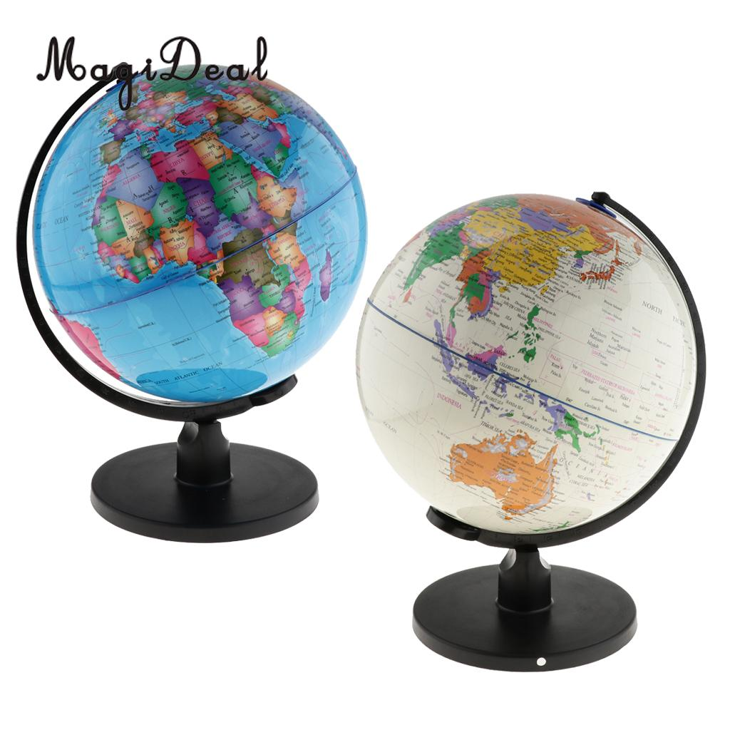 Large Swivel Spining World Globe Model School Geography Educational Teaching Kits Children Leaning Toys