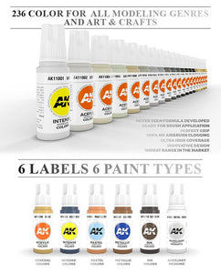AK Interactive 3Rd Generation Acrylics Paints Full Range