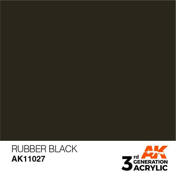 AK Interactive 3rd Gen Rubber Black 17ml - Hobby Heaven
