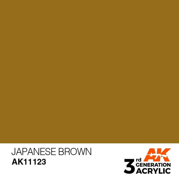 AK Interactive 3rd Gen Japanese Brown 17ml - Hobby Heaven