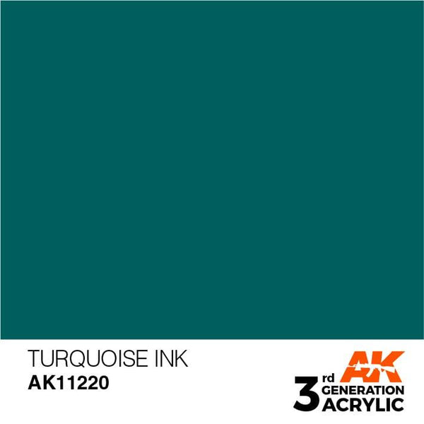 AK Interactive 3rd Gen Turquoise INK 17ml - Hobby Heaven