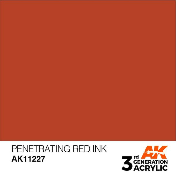 AK Interactive 3rd Gen Penetrating Red INK 17ml - Hobby Heaven