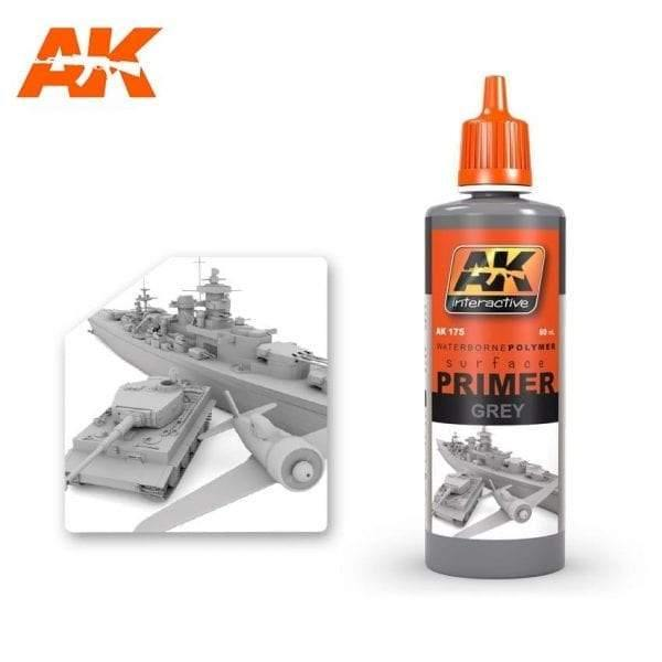 AK Interactive Grey Primer 60ml - Hobby Heaven