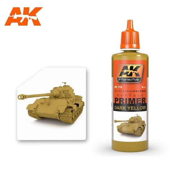 AK Interactive Dark Yellow Primer 60ml - Hobby Heaven