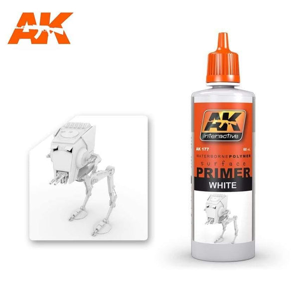 AK Interactive White Primer 60ml - Hobby Heaven