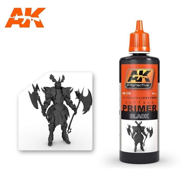 AK Interactive Black Primer 60ml - Hobby Heaven