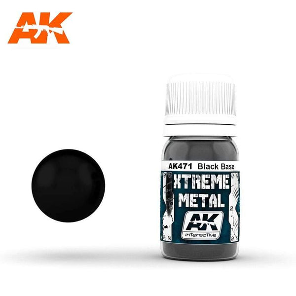 AK Interactive XTREME METAL Black Base 30ml - Hobby Heaven