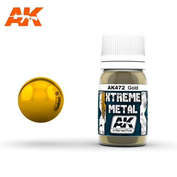 AK Interactive XTREME METAL Gold 30ml - Hobby Heaven