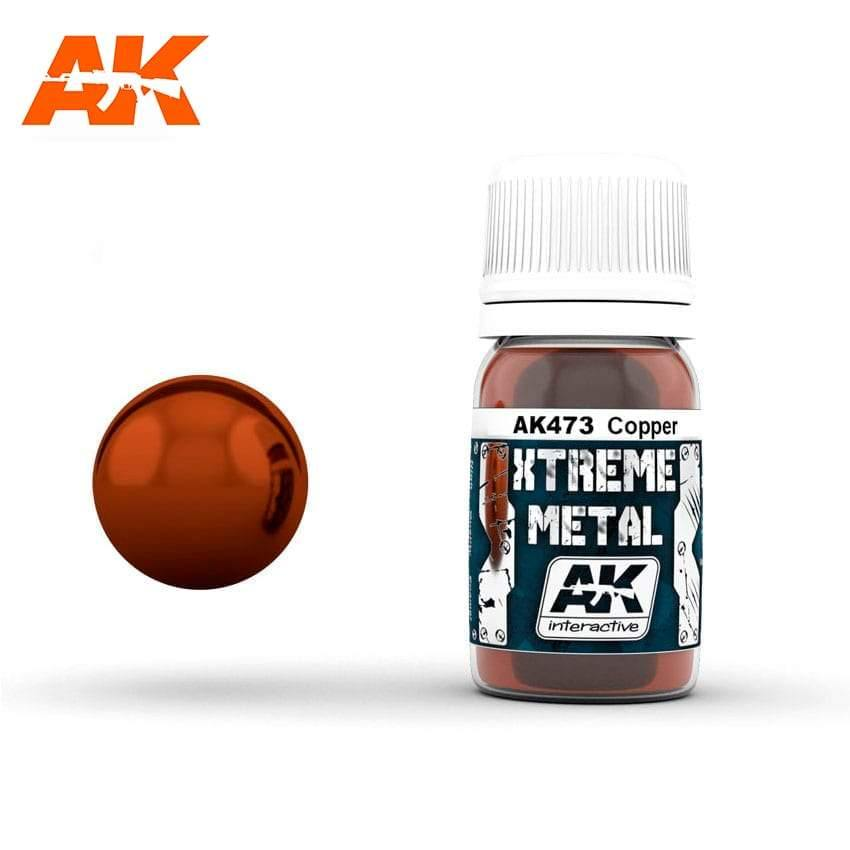 AK Interactive XTREME METAL Copper 30ml - Hobby Heaven