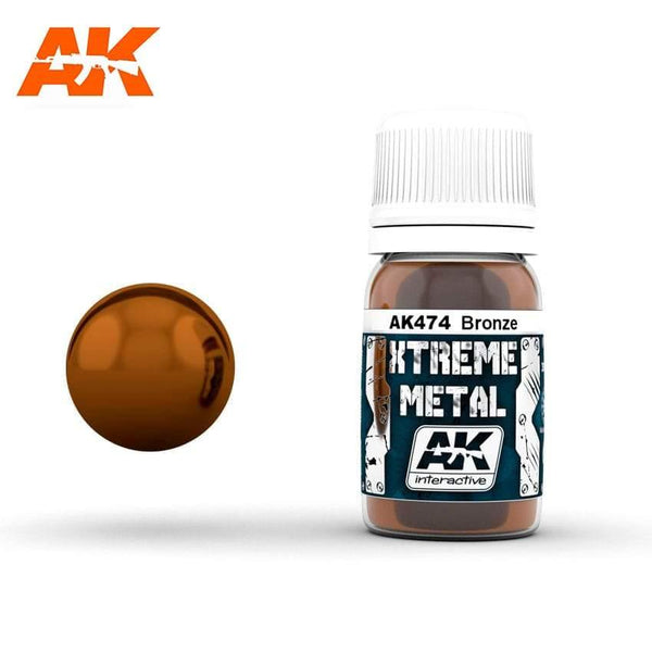 AK Interactive XTREME METAL Bronze 30ml - Hobby Heaven