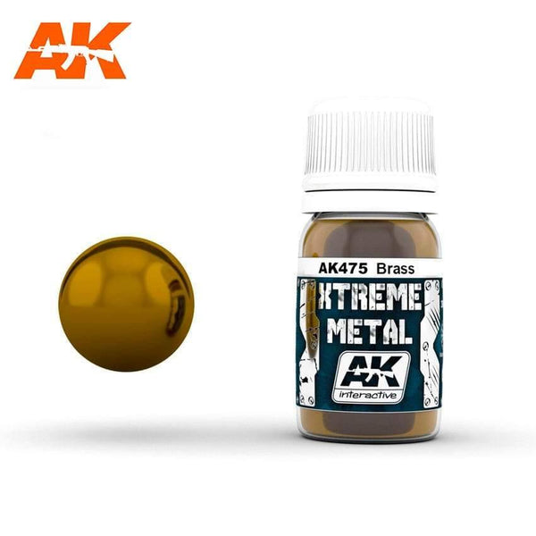 AK Interactive XTREME METAL Brass 30ml - Hobby Heaven