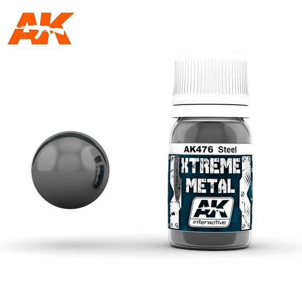 AK Interactive XTREME METAL Steel 30ml - Hobby Heaven