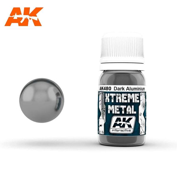 AK Interactive XTREME METAL Dark Aluminium 30ml - Hobby Heaven