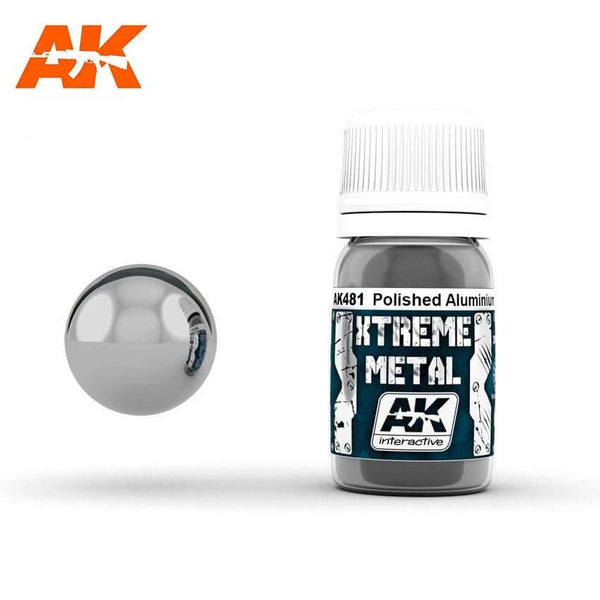 AK Interactive XTREME METAL Polished Aluminium 30ml - Hobby Heaven