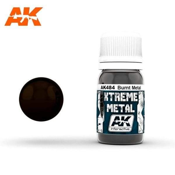 AK Interactive XTREME METAL Burnt Metal 30ml - Hobby Heaven