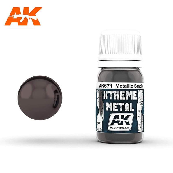 AK Interactive XTREME METAL Smoke Metallic 30ml - Hobby Heaven