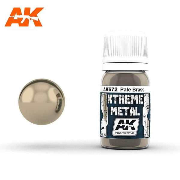 AK Interactive XTREME METAL Pale Brass 30ml - Hobby Heaven