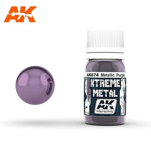 AK Interactive XTREME METAL Metallic Purple 30ml - Hobby Heaven