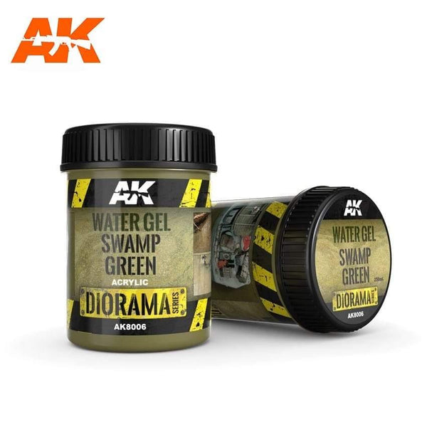 AK Interactive Water Gel Swamp Green 250ml Diorama Effects - Hobby Heaven