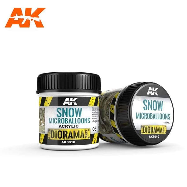 AK Interactive Snow Microballoons 100ml Diorama Effects - Hobby Heaven