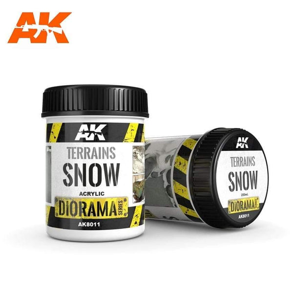 AK Interactive Terrains Snow 250ml (Acrylic) Diorama Effects - Hobby Heaven