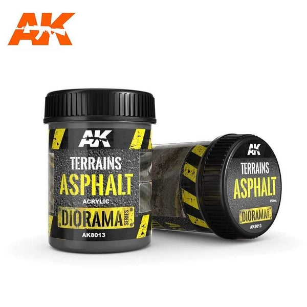 AK Interactive Terrains Asphalt 250ml (Acrylic) Diorama Effects - Hobby Heaven