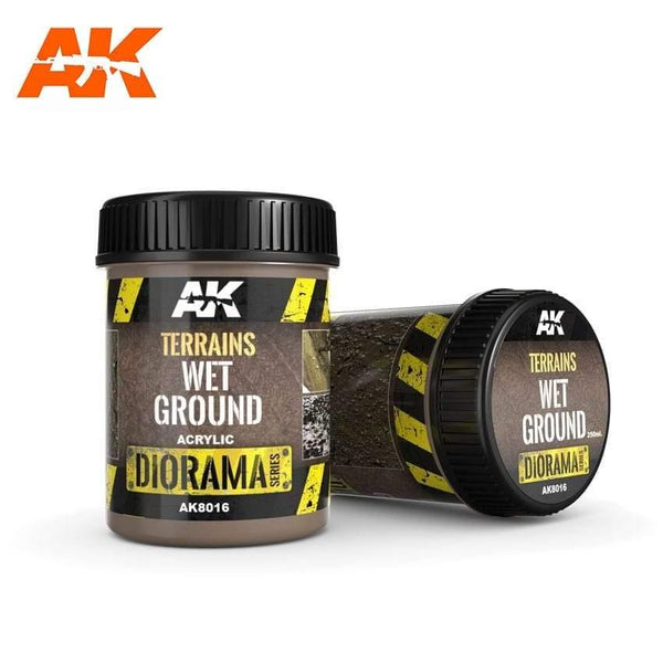 AK Interactive Wet Ground 250ml (Acrylic) Diorama Effects - Hobby Heaven