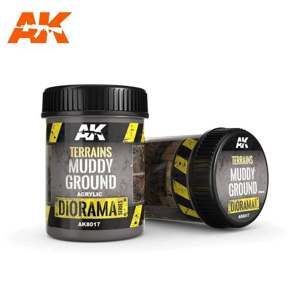 AK Interactive Muddy Ground 250ml (Acrylic) Diorama Effects - Hobby Heaven