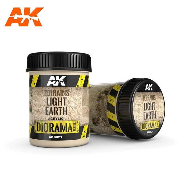 AK Interactive Terrains Light Earth 250ml (Acrylic) Diorama Effects - Hobby Heaven