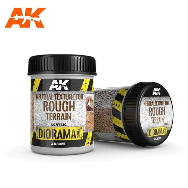 AK Interactive Terrains Neutral Texture for Rough Terrain 250ml (Acrylic) Diorama Effects - Hobby Heaven