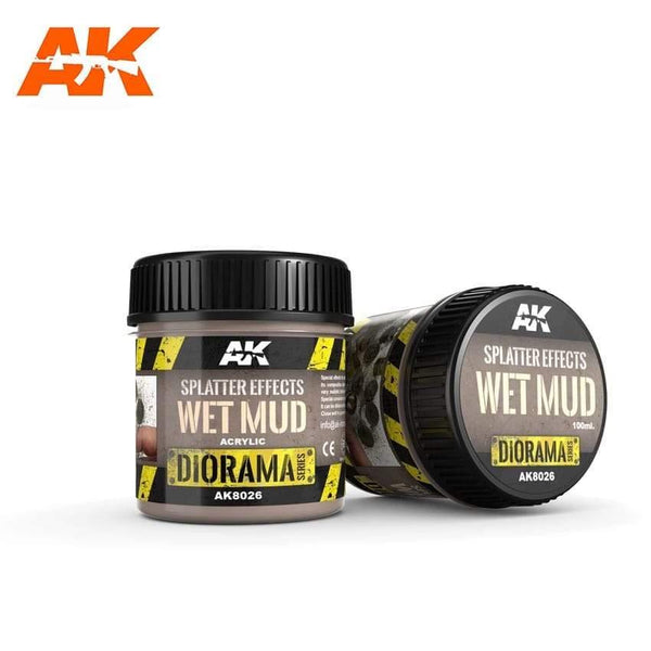 AK Interactive Splatter Effects Wet Mud 100ml (Acrylic) Diorama Effects - Hobby Heaven