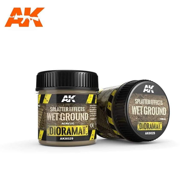 AK Interactive Splatter Effects Wet Ground 100ml (Acrylic) Diorama Effects - Hobby Heaven