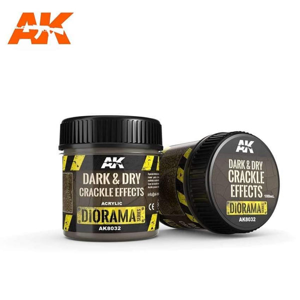 AK Interactive Dark & Dry Crackle Effects 100ml (Acrylic) Diorama Effects - Hobby Heaven