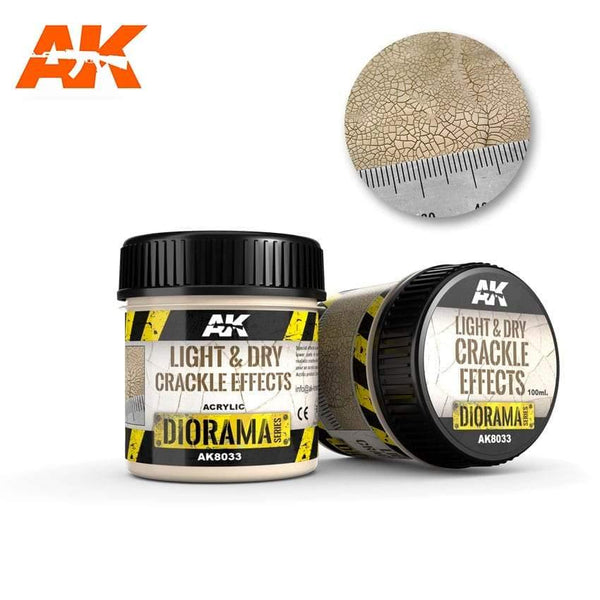 AK Interactive Light & Dry Crackle Effects 100ml (Acrylic) Diorama Effects - Hobby Heaven