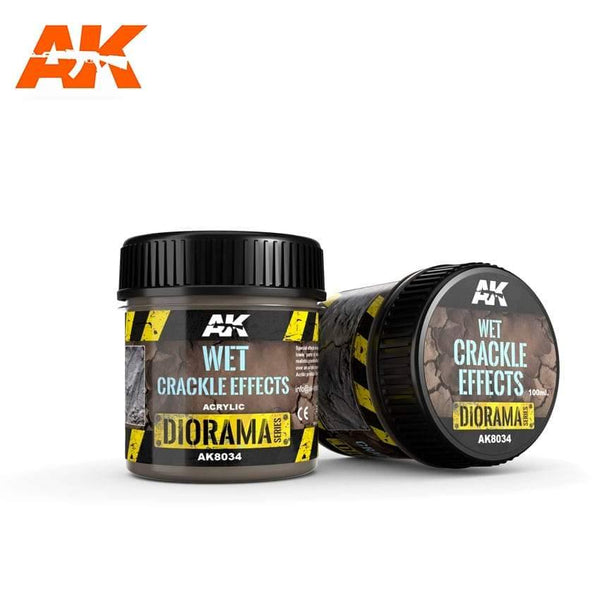 AK Interactive Wet Crackle Effects 100ml (Acrylic) Diorama Effects - Hobby Heaven