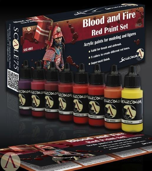 Scale75 Blood and Fire Paint Set (8 Paints) - Hobby Heaven