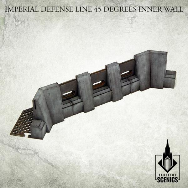 Tabletop Scenics Imperial Defense Line 45 degrees Inner Wall KRTS124 - Hobby Heaven