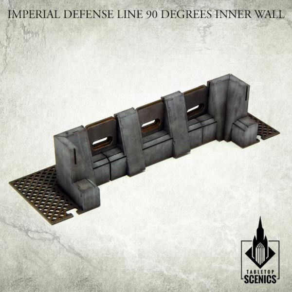 Tabletop Scenics Imperial Defense Line 90 degrees Inner Wall KRTS122 - Hobby Heaven
