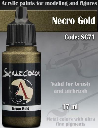 Scale75 Metal And Alchemy Necro Gold SC-71 - Hobby Heaven