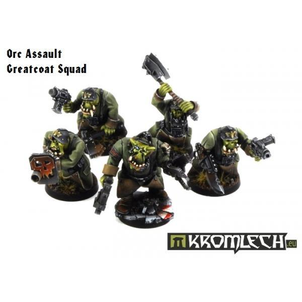 Kromlech Orc Assault Greatcoat Squad (10) [armoured bodies] KRM071 - Hobby Heaven