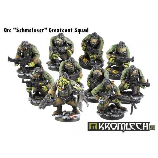 "Kromlech Orc ""Schmeisser"" Greatcoats Squad (10) [armoured bodies] KRM070 - Hobby Heaven"