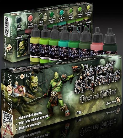 Scale75 Orc and Goblins Paint Set (8 Paints) - Hobby Heaven
