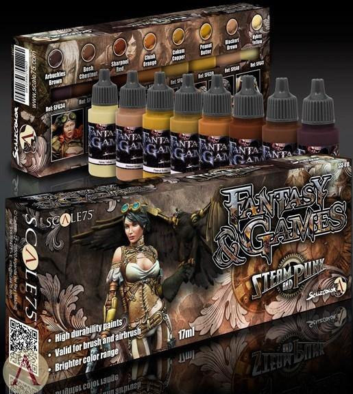 Scale75 Steam and Punk Paint Set (8 Paints) - Hobby Heaven