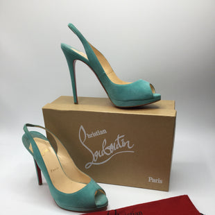 Primary Photo - BRAND: CHRISTIAN LOUBOUTIN STYLE: SHOES HIGH HEEL COLOR: TURQUOISE SIZE: 9.5 SKU: 126-2092-177445