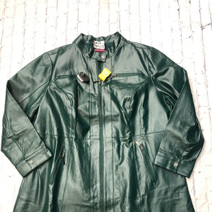 Primary Photo - BRAND: JESSICA LONDON STYLE: JACKET LEATHER COLOR: GREEN SIZE: 24 SKU: 126-3003-5486