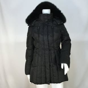 Marc New York Coat Long Size:xs - BLACK DOWN FILLED COAT WITH FUR TRIM HOOD AND 4 EXTERIOR POCKETS WITH 1 INTERIOR POCKET.