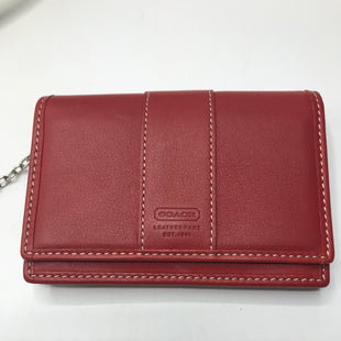Primary Photo - BRAND: COACH STYLE: WALLET COLOR: RED SIZE: SMALL SKU: 126-4493-1705