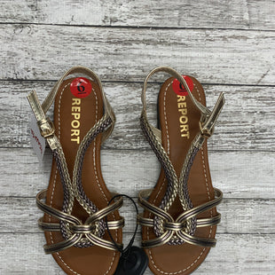Primary Photo - BRAND: REPORT STYLE: SANDALS COLOR: GOLD SIZE: 6 SKU: 126-3290-76031